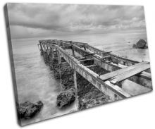 Abandoned Pier Sunset Seascape - 13-0375(00B)-SG32-LO